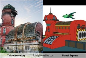 This observatory Totally Looks Like Planet Express