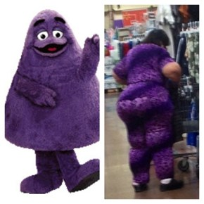 Grimace Indeed
