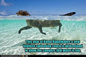 This year at Kamp Kuppykakes a new fearless swimming coach is determined to show the campers that water is fun.