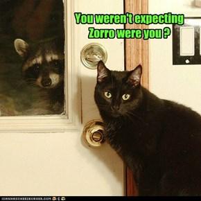 You weren't expecting Zorro were you ?