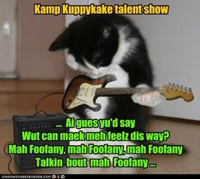 ...  Ai gues yu'd say Wut can maek meh feelz dis way? Mah Foofany, mah Foofany, mah Foofany Talkin  bout  mah  Foofany ...