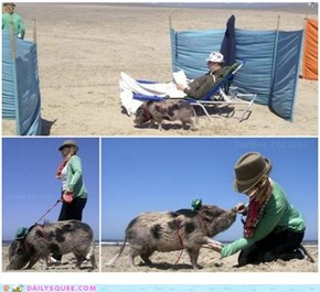 This Little Piggy Went To The Beach!