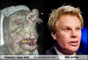Prostetnic vogon Jeltz Totally Looks Like Mike Jeffries