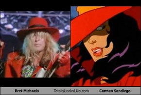 Bret Michaels Totally Looks Like Carmen Sandiego