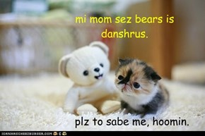 mi mom sez bears is danshrus.