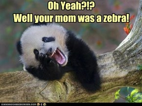 Oh Yeah?!? Well your mom was a zebra!