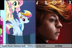 Crystal Empire Rainbow Dash Totally Looks Like La Roux