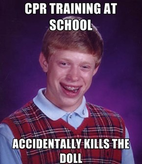 Bad Luck Brian does CPR training