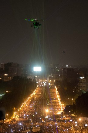 Meanwhile in Egypt of the Day: Protesters Target Helicopters with Laser Pointers