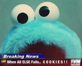 Breaking News - When All ELSE Fails..  C O O K I E S ! !