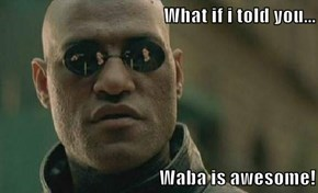 What if i told you...  Waba is awesome!