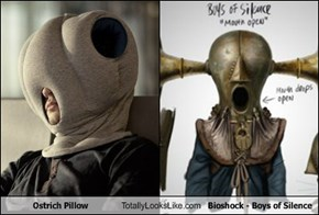 Ostrich Pillow Totally Looks Like Bioshock - Boys of Silence