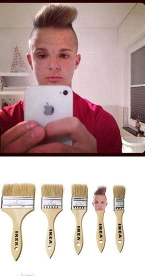 This Guy's Hair Looks Like a Paintbrush
