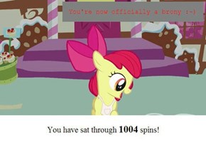 Yea, I can beat your pony spin record