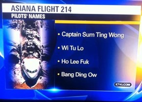 A Local News Station Reports the Names of Asiana's Pilots... and Everyone Facepalms