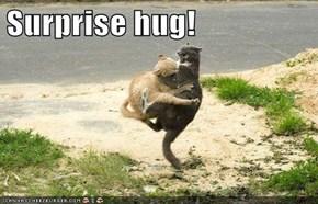 Surprise hug!