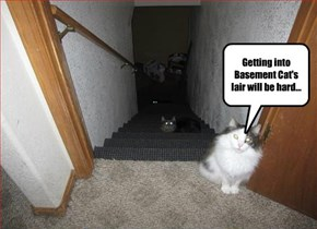 Getting into Basement Cat's lair will be hard...