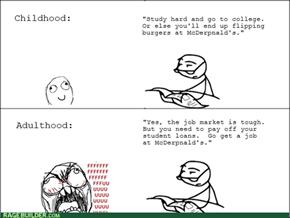 Childhood vs. Adulthood: Jobs