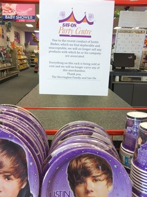 This Store Has Had Enough of the Bieber