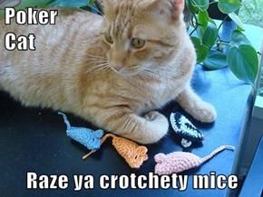 Poker                                                  Cat  Raze ya crotchety mice