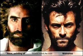 Jesus, painting of Totally Looks Like Wolverine