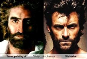 Jesus, painting of Totally Looks Like Wolverine