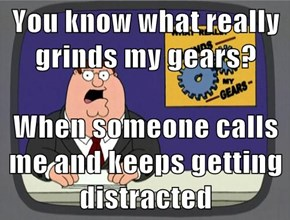 You know what really grinds my gears?  When someone calls me and keeps getting distracted