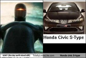 GORT (the day earth stood still) Totally Looks Like Honda civic S-type