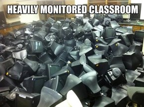 Heavily Monitored Classroom