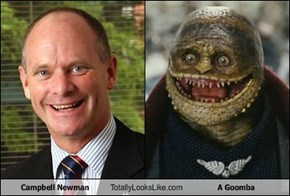 Campbell Newman Totally Looks Like A Goomba