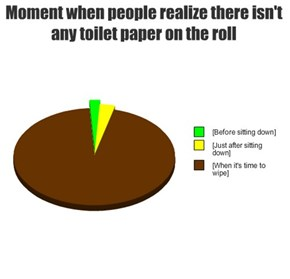 Moment when people realize there isn't any toilet paper on the roll