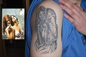 This tattoo artist was clearly not a fan of t.A.T.u.