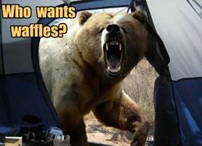 Who  wants  waffles?