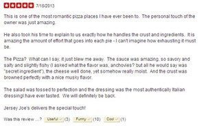 Customer Review of the Day: Pizzeria Owner's Embarrassing Pic Gets Posted on Yelp