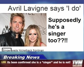 "Breaking News - its been confirmed she is a ""singer"" and he is not!"