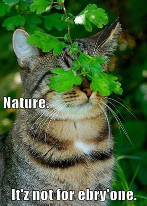 Nature. It'z not for ebry'one.