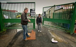 "Top Gear's ""Totally Unintentional"" Workshop Sign"