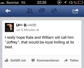 All hail king Joffrey!