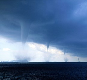 A Series of Waterspouts
