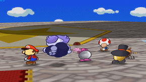Paper Mario enters to the fourth dimension