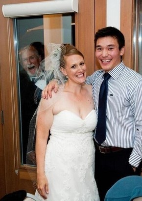 Photobomb Level: Father of the Bride