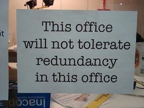 Or in any other office, so there!