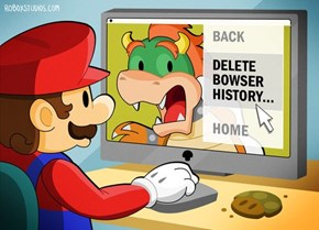 Mario Taking Care of Business