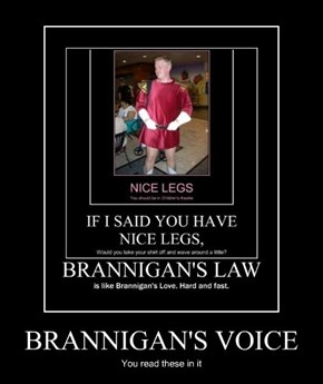 BRANNIGAN'S VOICE