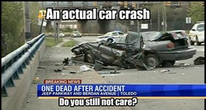 An actual car crash