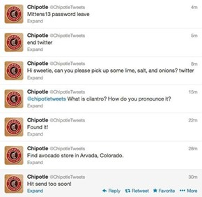 Chipotle Faked It's Own Twitter Hack on July 21st`