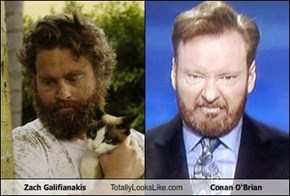 Zach Galifianakis Totally Looks Like Conan O'Brian