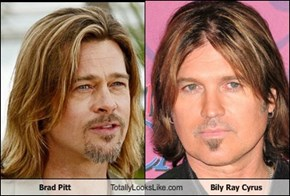 Brad Pitt Totally Looks Like Bily Ray Cyrus