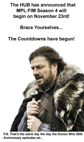 The waiting will soon be over!
