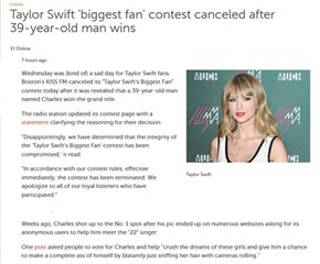 Taylor Swift Contest Trolled